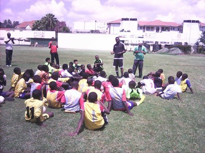 Football clinic with Boniventure Maruti