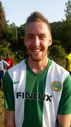 Mattias Swedish volunteer in Kenya