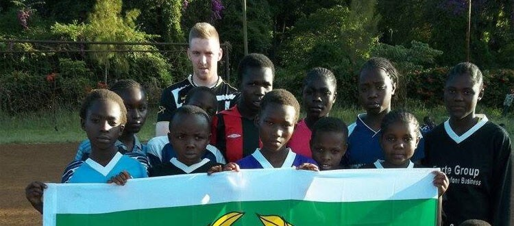 VSA kids with Swedish volunteer Mattias